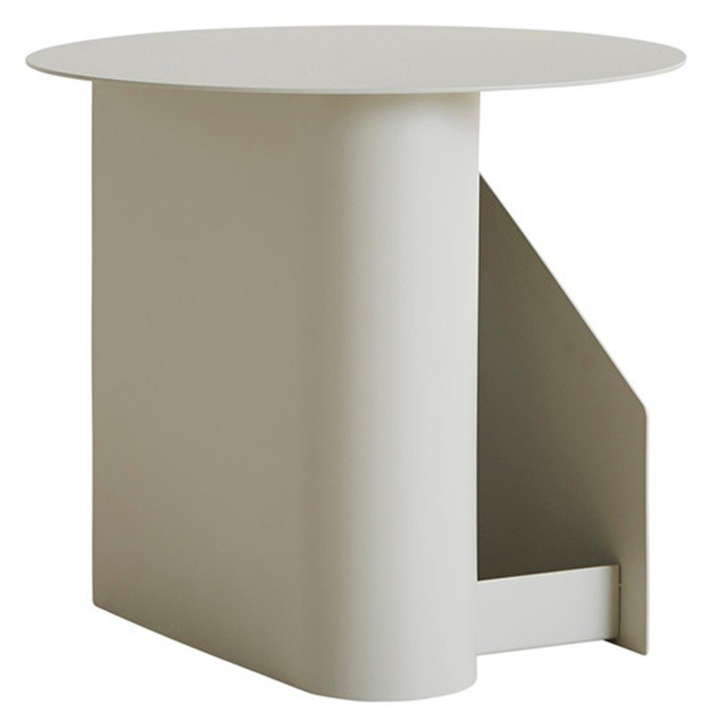 Sentrum Side Table in Grey by M. Schmahl & F. Schnippering for WOUD