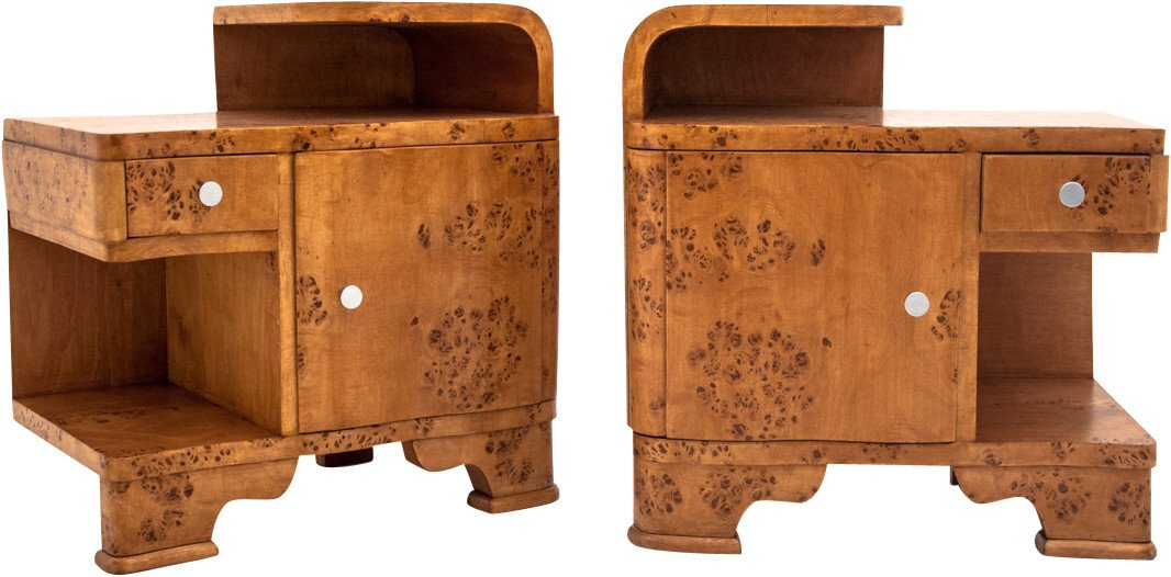 Pair of Nightstands, 1940s