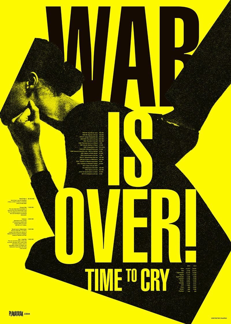 War is Over Poster by K. Iwański, Wall-being