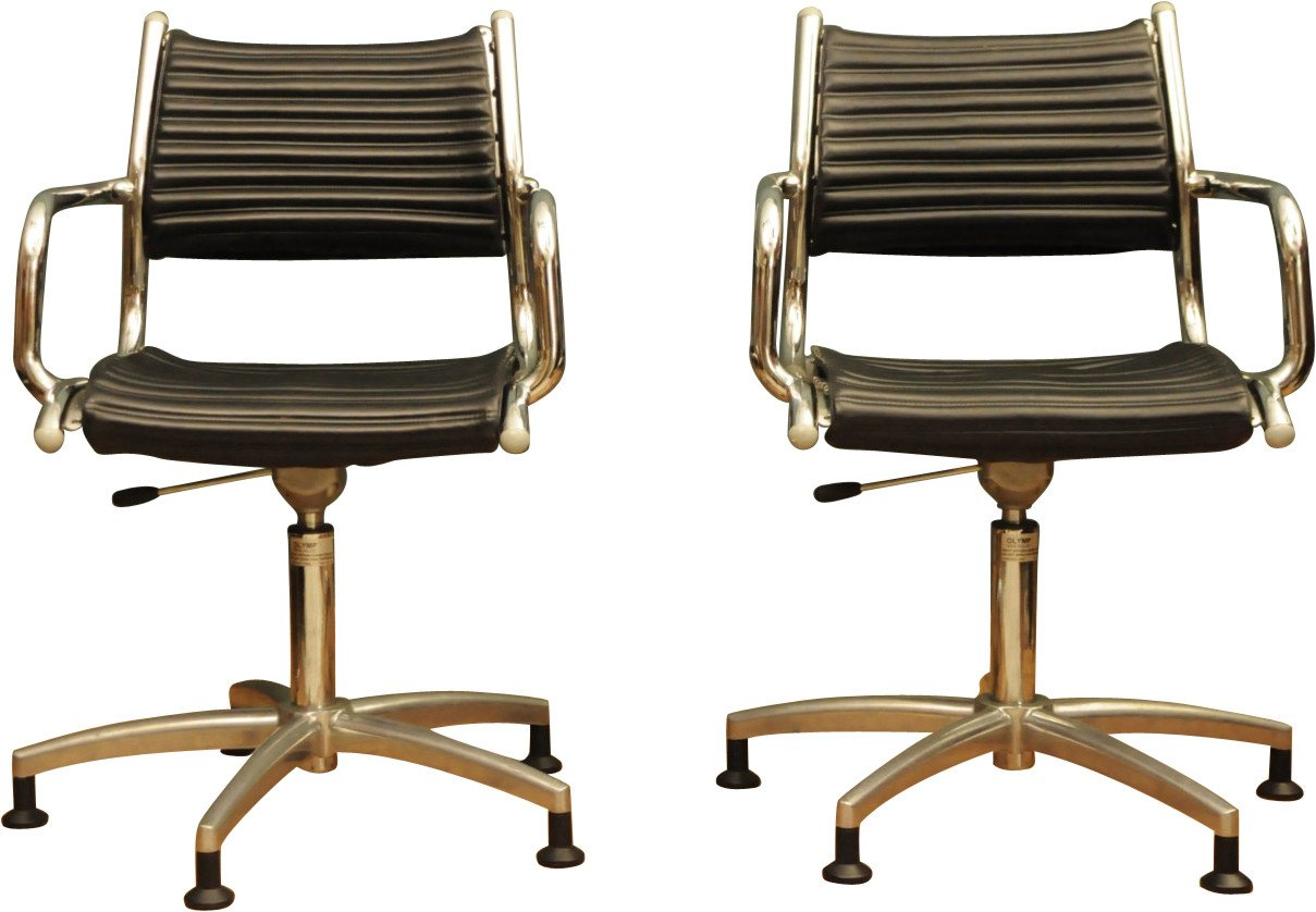 Pair of Office Chairs, Olymp, 1960s