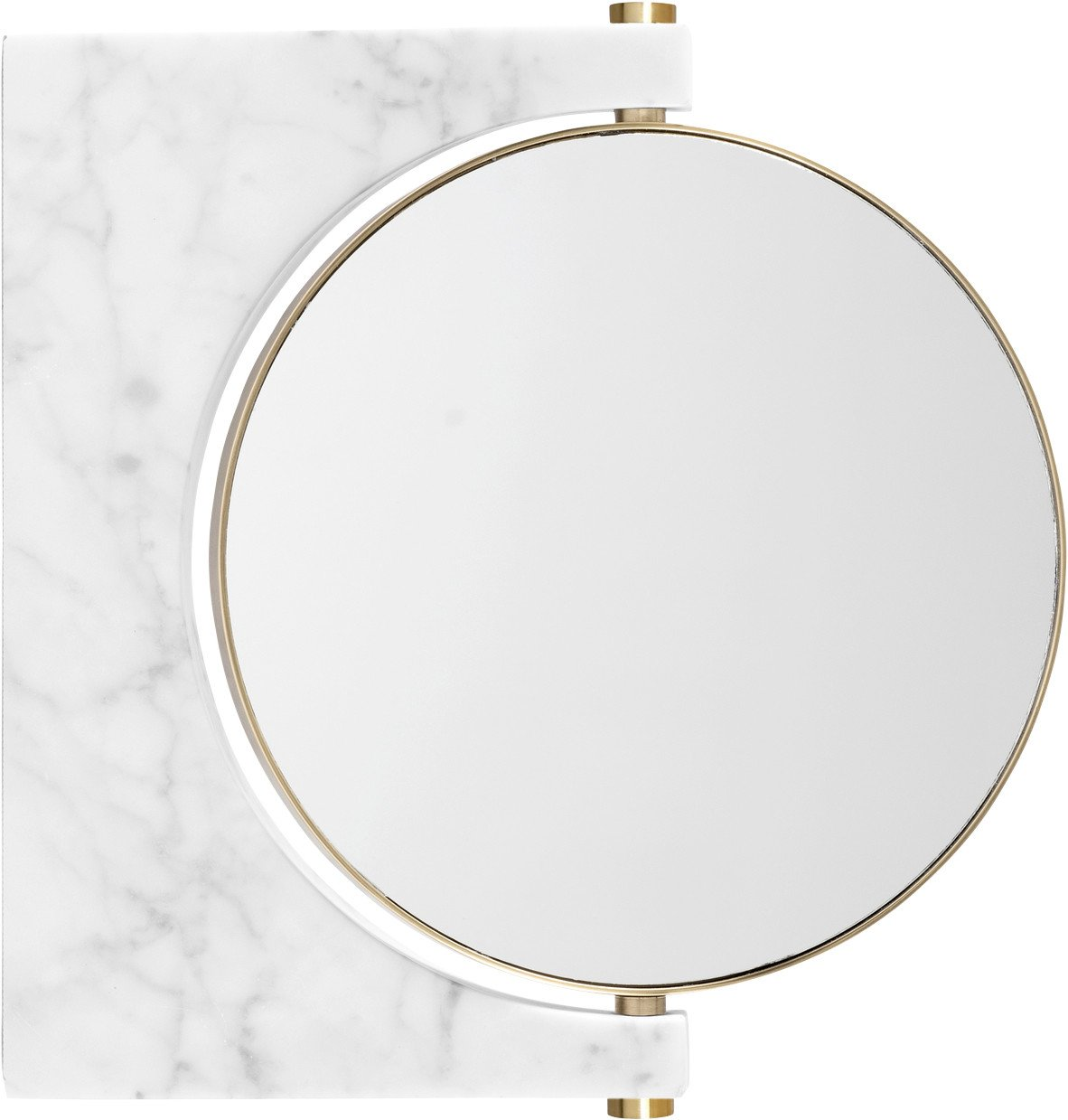 Pepe White Marble Wall Mirror by Studio Pepe for Menu