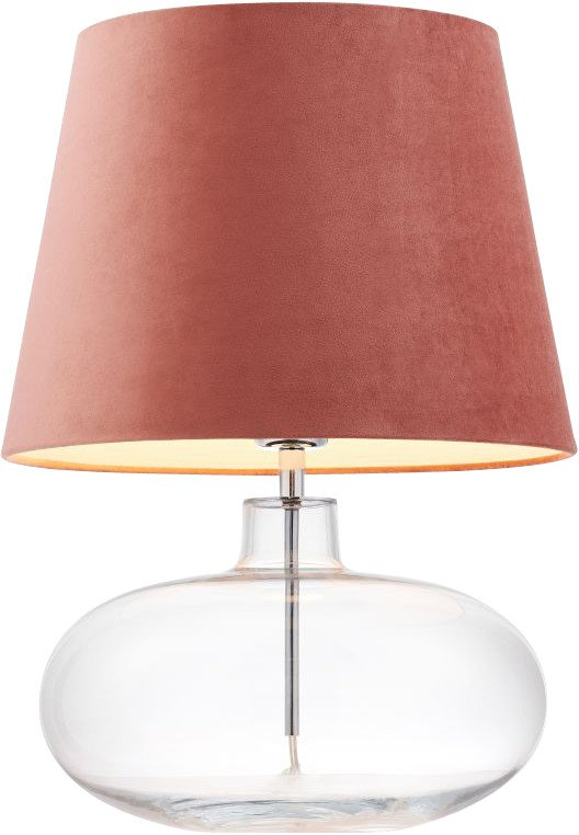 Sawa Velvet Pink Table Lamp , Kaspa
