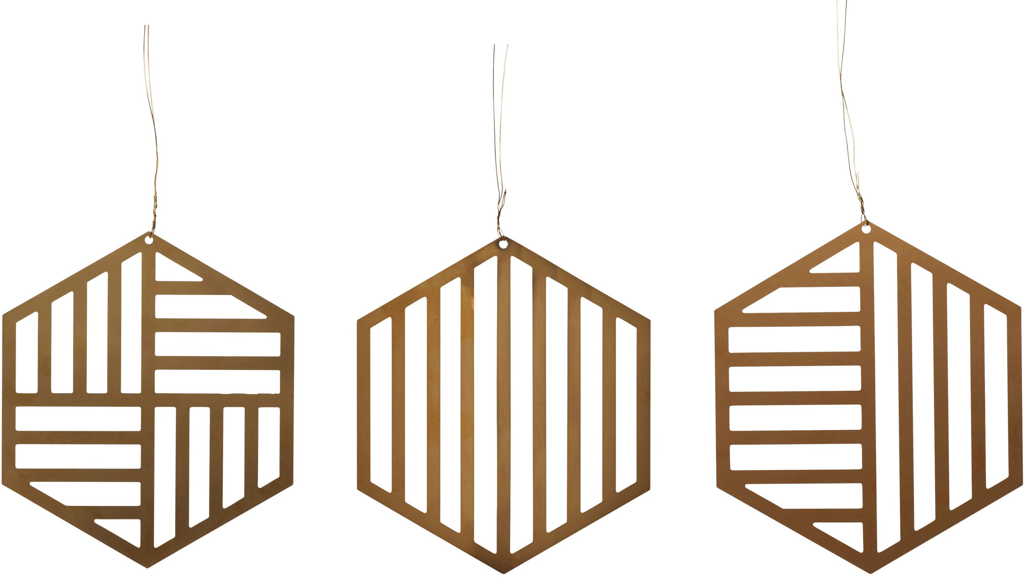Set of Christmas Ornaments by F. Hussak Hussak for Hubsch, Denmark