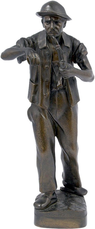 Figurine of A Man with Pipe, Poland, 1930s