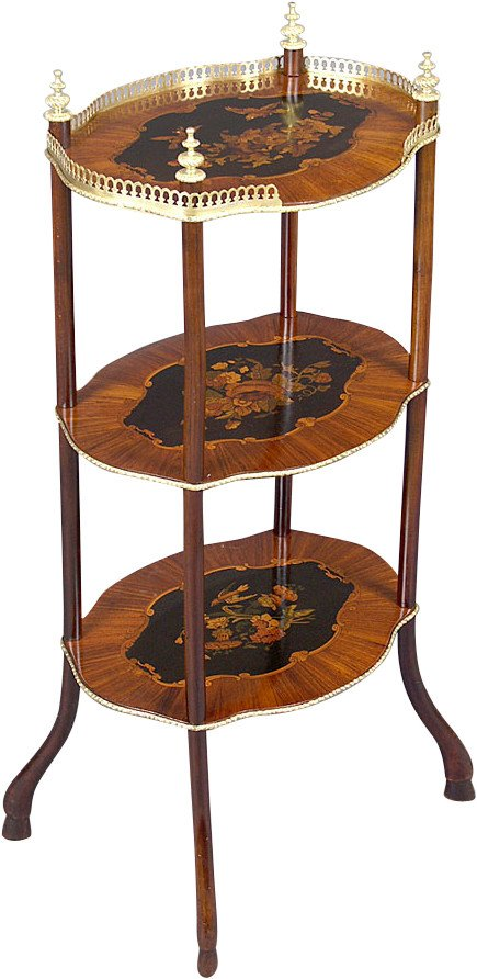 Inlaid Side Table, 19th c.