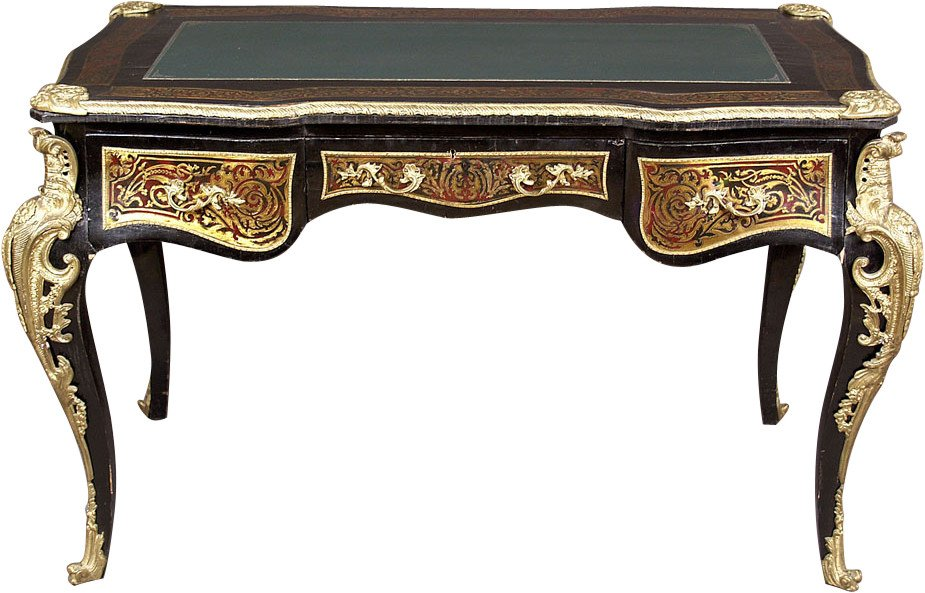 Desk with Tortoiseshell Marquetry, 19th c.