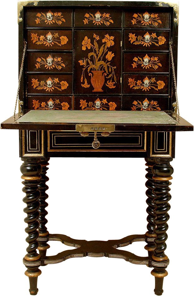 Secretary Desk with Marquetry, 18th c.
