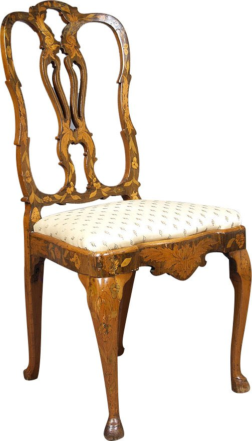 Inlaid Chair, Netherlands, 19th c.