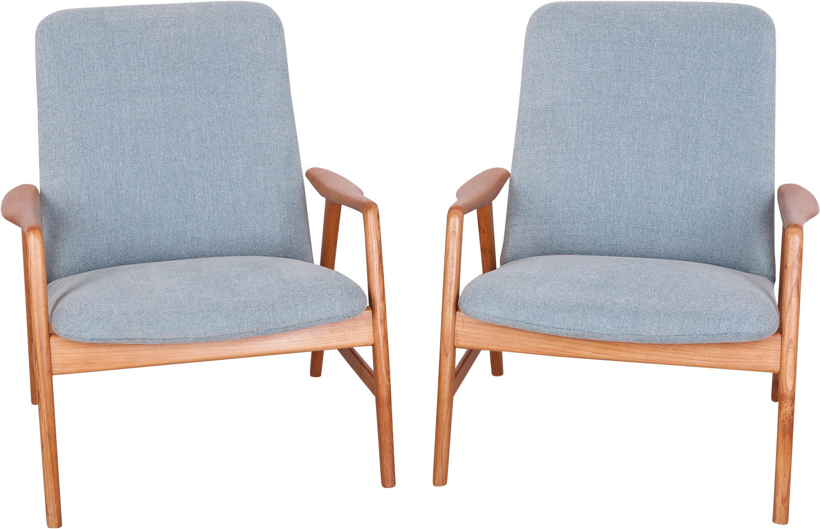 Pair of Armchairs by A. Svensson for Fritz Hansen, Denmark, 1960s