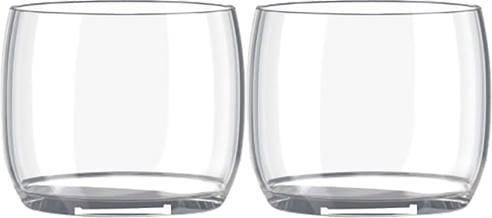Set of 2 Glasses AB/C Cleatr by C. Charlotte Brüel for Lyngyby Porcelain