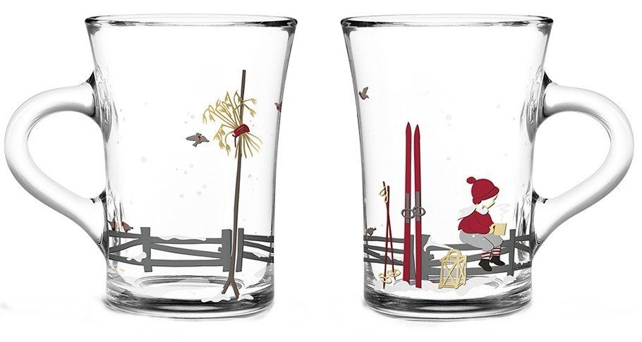 Pair of Christmas Glass Cups 2019 by J. Frölich for Holmegaard