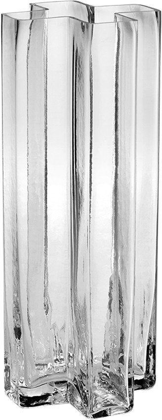 Crosses Vase 25 cm Transparent by B. Kjær for Holmegaard