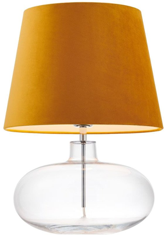 Sawa Velvet Golden Table Lamp, Kaspa