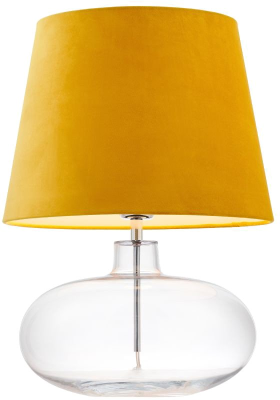 Sawa Velvet Yellow Table Lamp, Kaspa