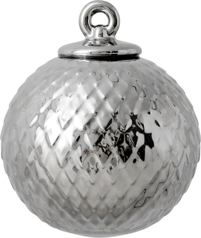 Rhombe Silver Bauble, by Lyngyby Porcelain