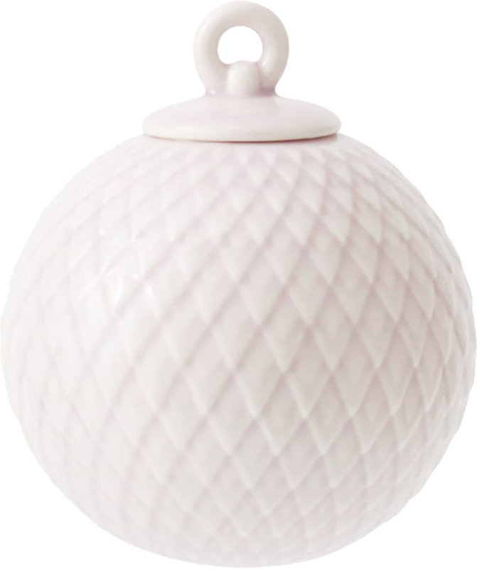 Rhombe Soft Pink Bauble, Lyngyby Porcelain