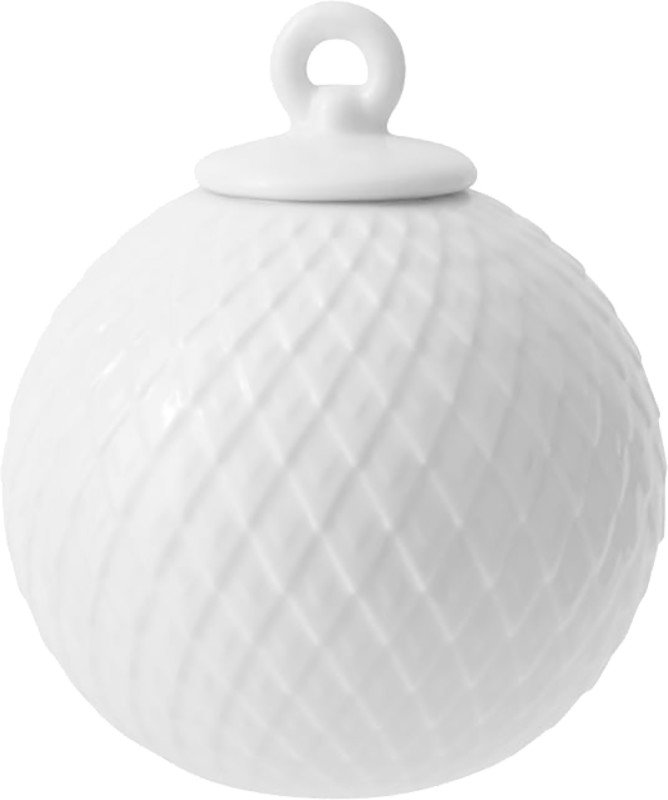 Rhombe White Bauble, Lyngyby Porcelain