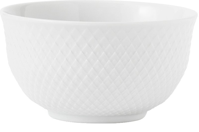 Rhombe White Bowl 50 cl, Lyngyby Porcelain