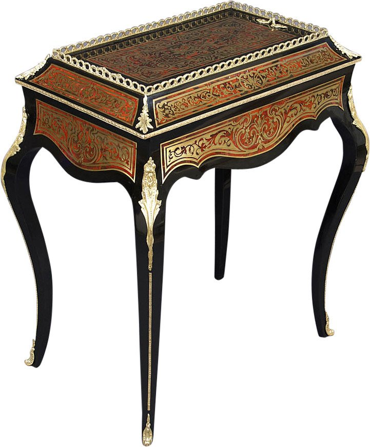 Jardinière with Tortoiseshell Marquetry, 19th C.