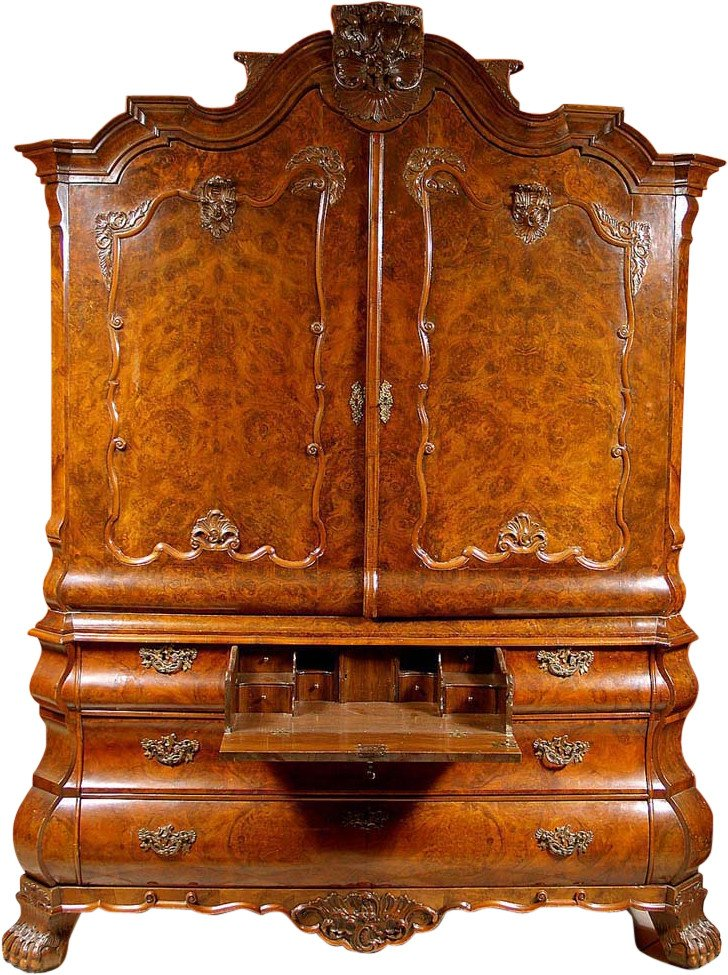 Armoire with Writing Desk, Netherlands, 18th c.