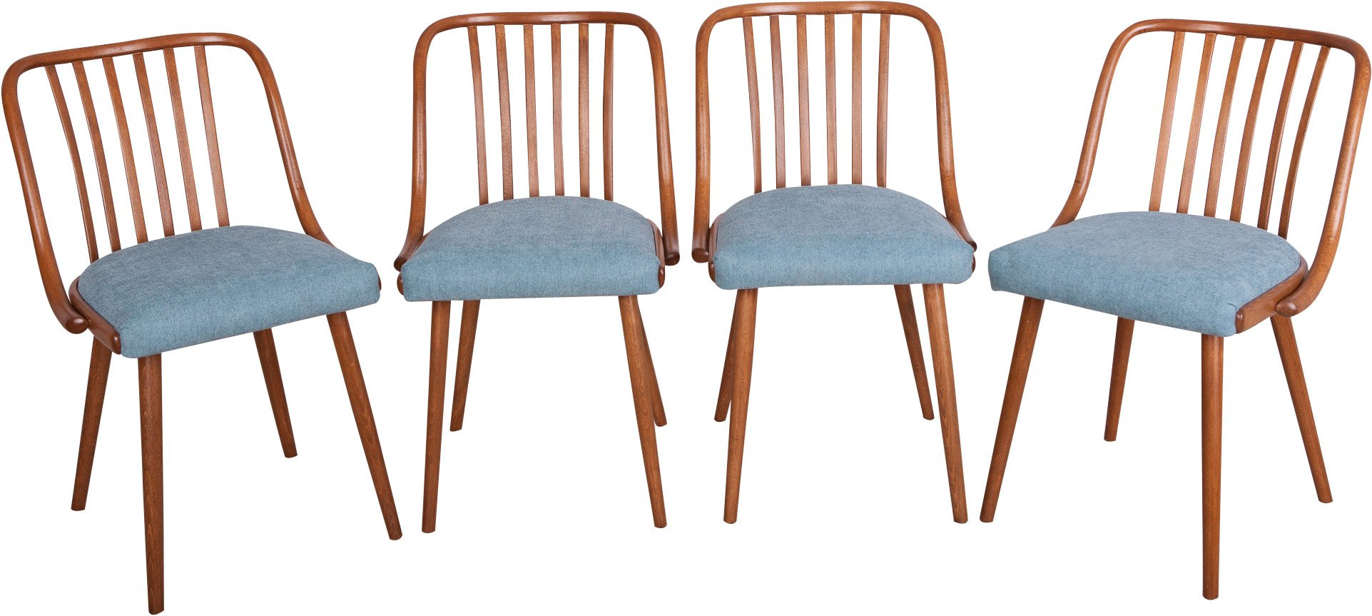 Set of Four Chairs by A. Suman for TON, Czechoslovakia, 1960s