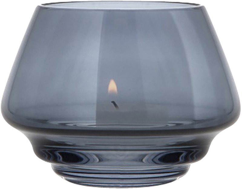 Flow Tealight Holder 10 cm Blue by M. Fortat for Holmegaard
