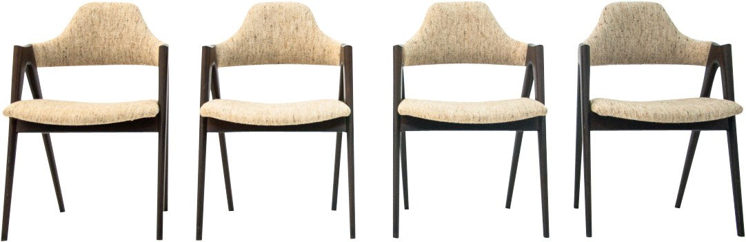 Set of Four Chairs by K. Kristiansen for Compass, Denmark, 1960s