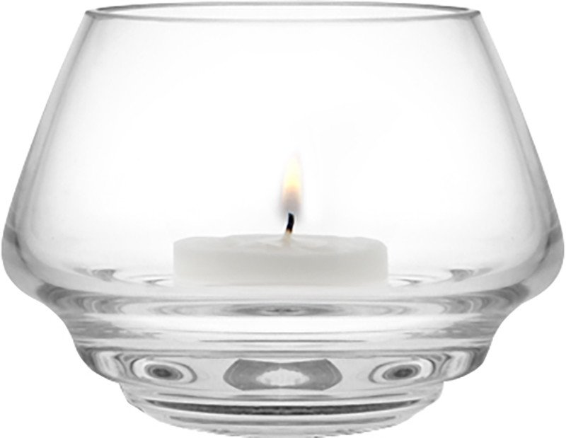 Flow Tealight Holder 10 cm Transparent by M. Fortat for Holmegaard