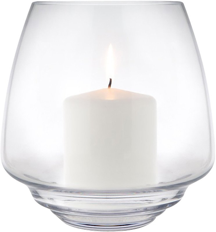 Flow Candle Holder 18,5 cm Transparent by M. Fortat for Holmegaard