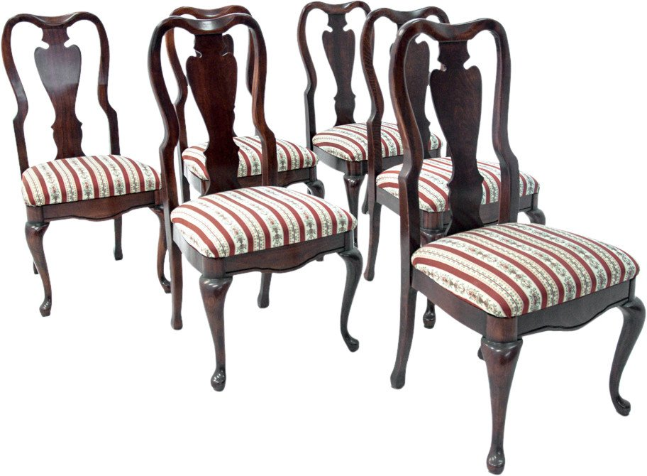 Set of Six Chairs, early 20th C.