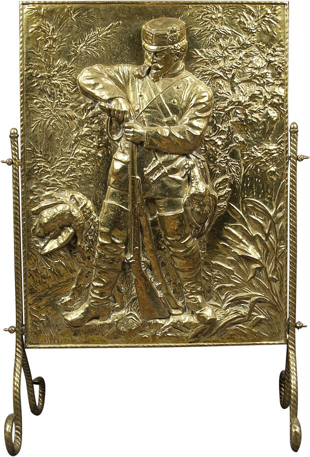 Brass Fireplace Cover, early 20th C.