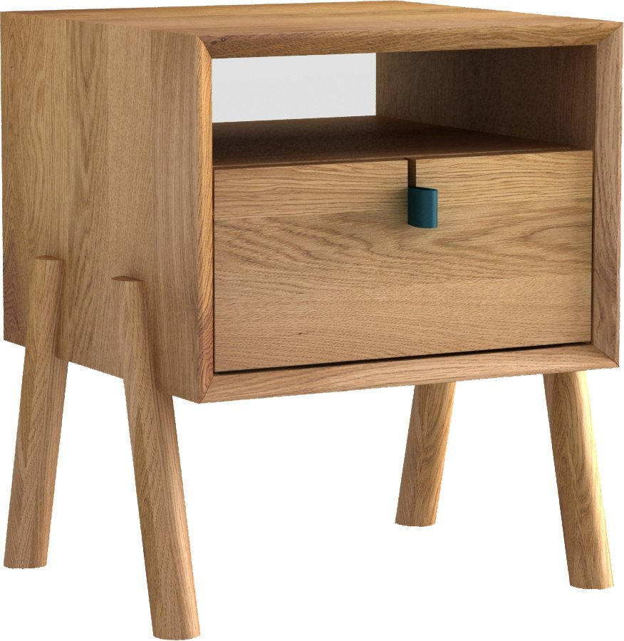 Amelia Nightstand Natur Oak Oil Wax, Tamo