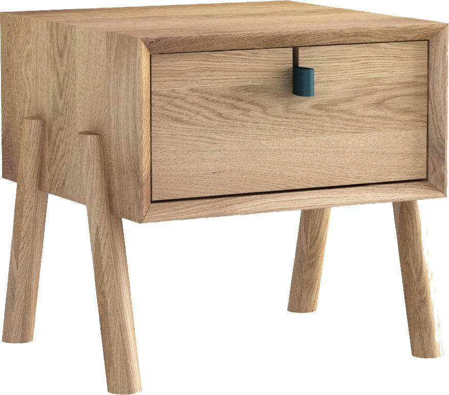 Amelia Nightstand White Oak Oil Wax, Tamo