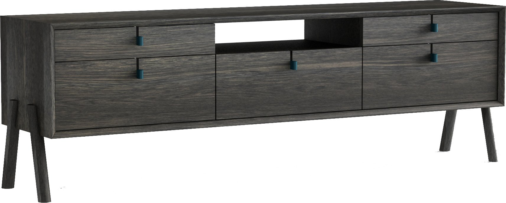 Amelia High RTV Sideboard Ebony Oak 170cm, Tamo