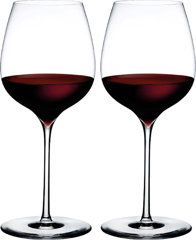 Pair of Elegant Dimple Wine Glasses for Nude Glass