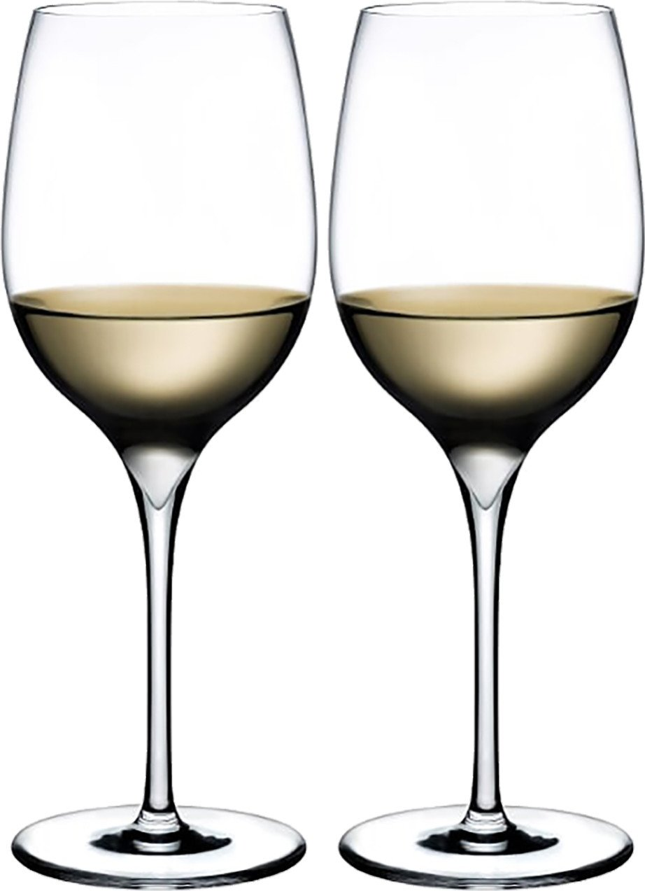 Pair of Aromatic Dimple White Wine Glasses for Nude Glass