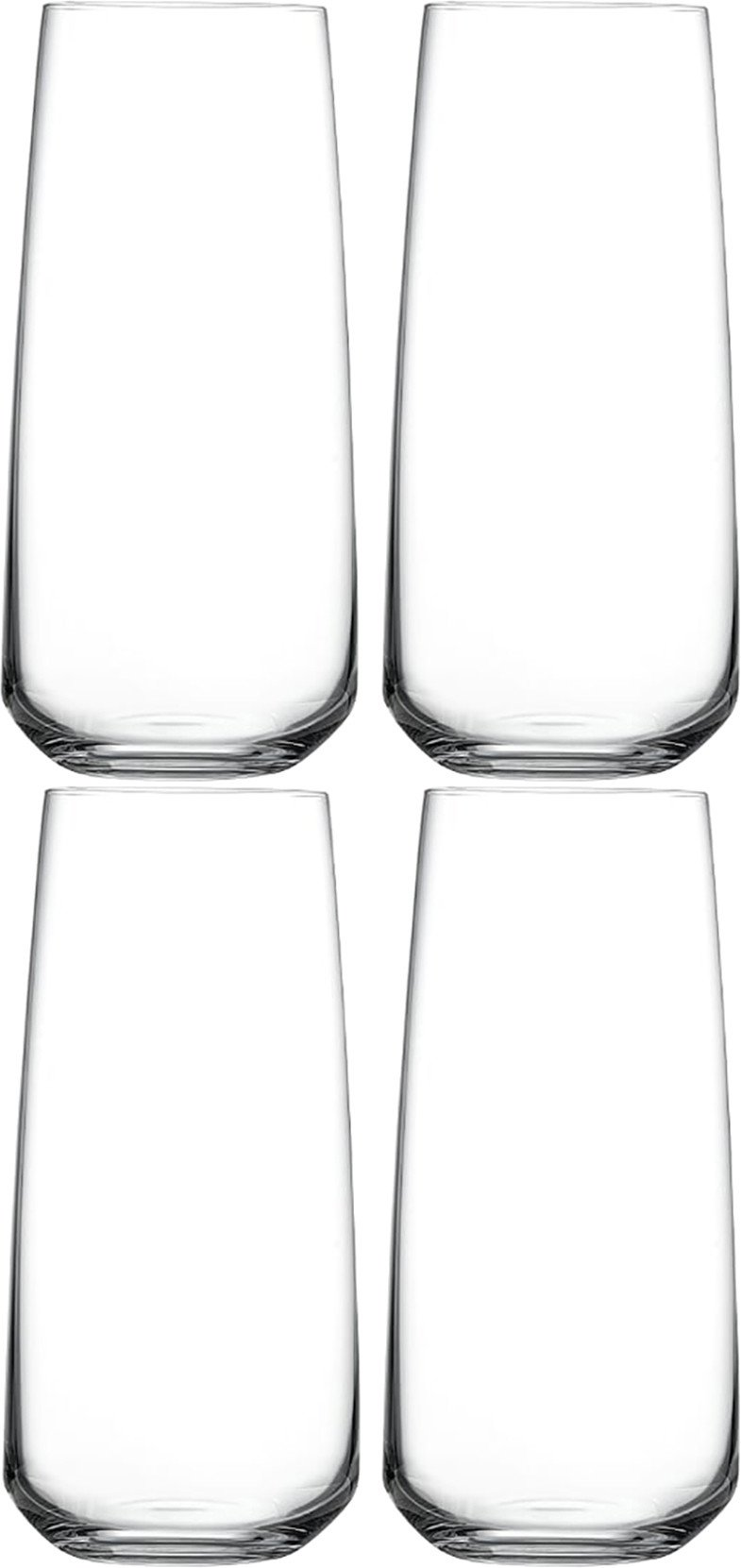 Set of Four Mirage Long Drink Glasses for Nude Glass