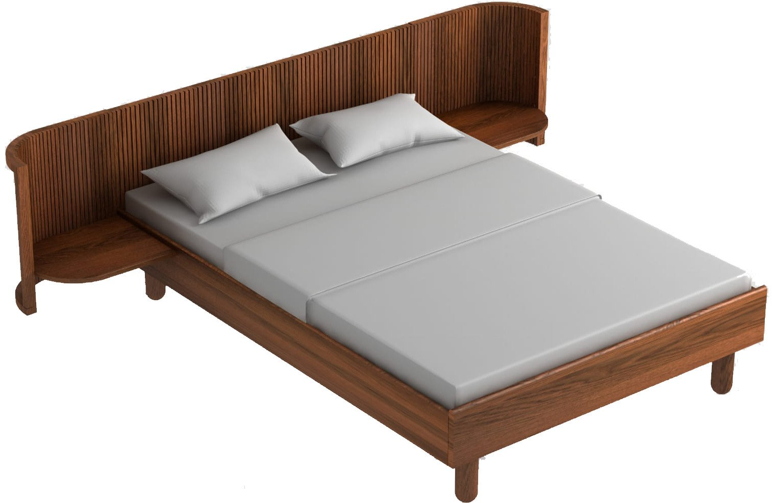 Hug Bed Dark Oak Oil Wax 140cm, Tamo