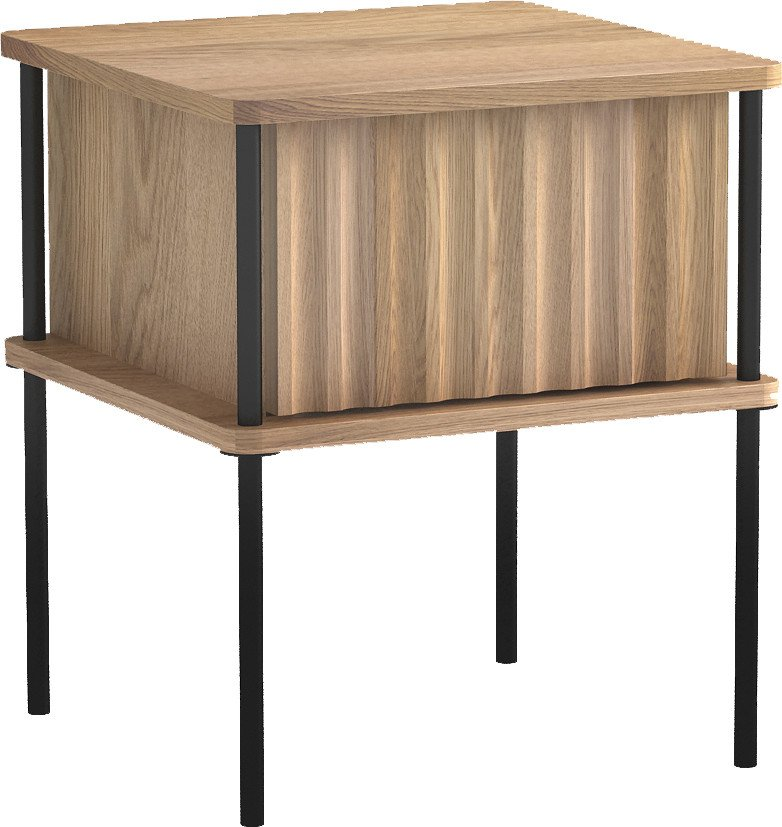 Maya 3 Nightstand White Oak Oil Wax, Tamo