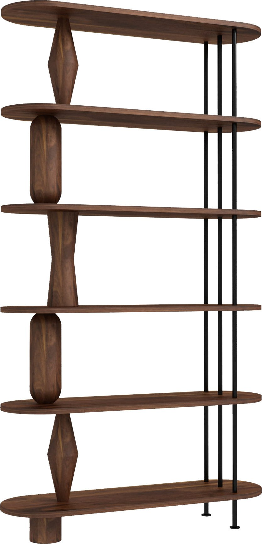 Vazoo 6 Bookcase American Walnut Natur Oil Wax, Tamo