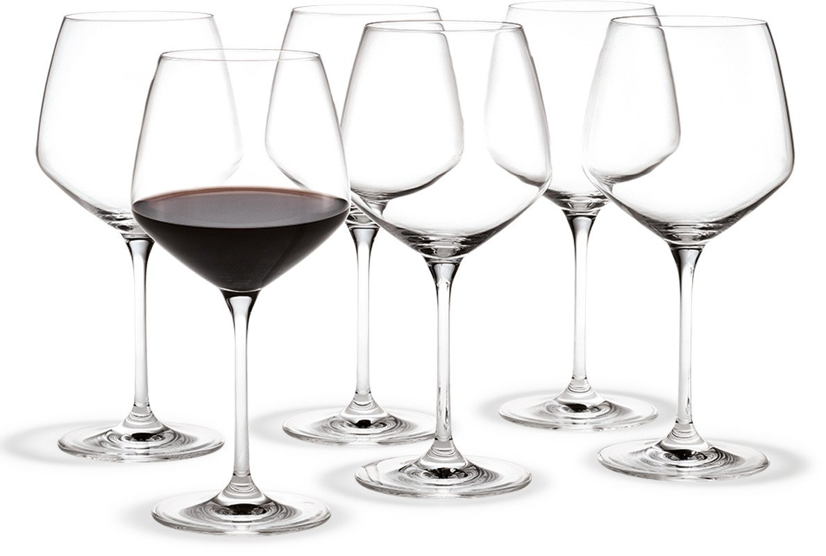 Set of Six Burgundy Perfection Glasses by T. Nybroe for Holmegaard