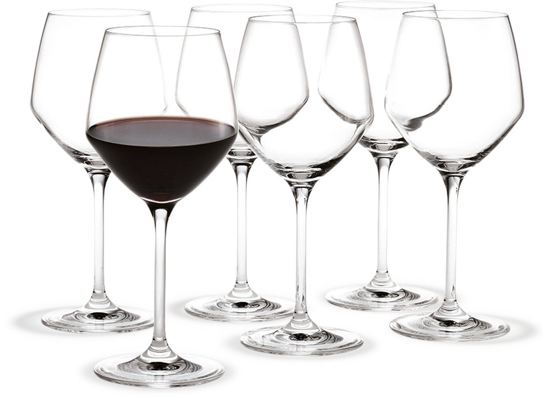 Set of Six Red Wine Perfection Glasses by T. Nybroe for Holmegaard