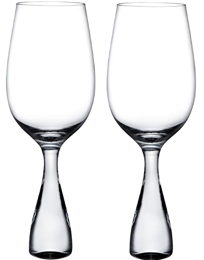 Pair of Wine Party White Wine Glasses by R. Arad for Nude Glas