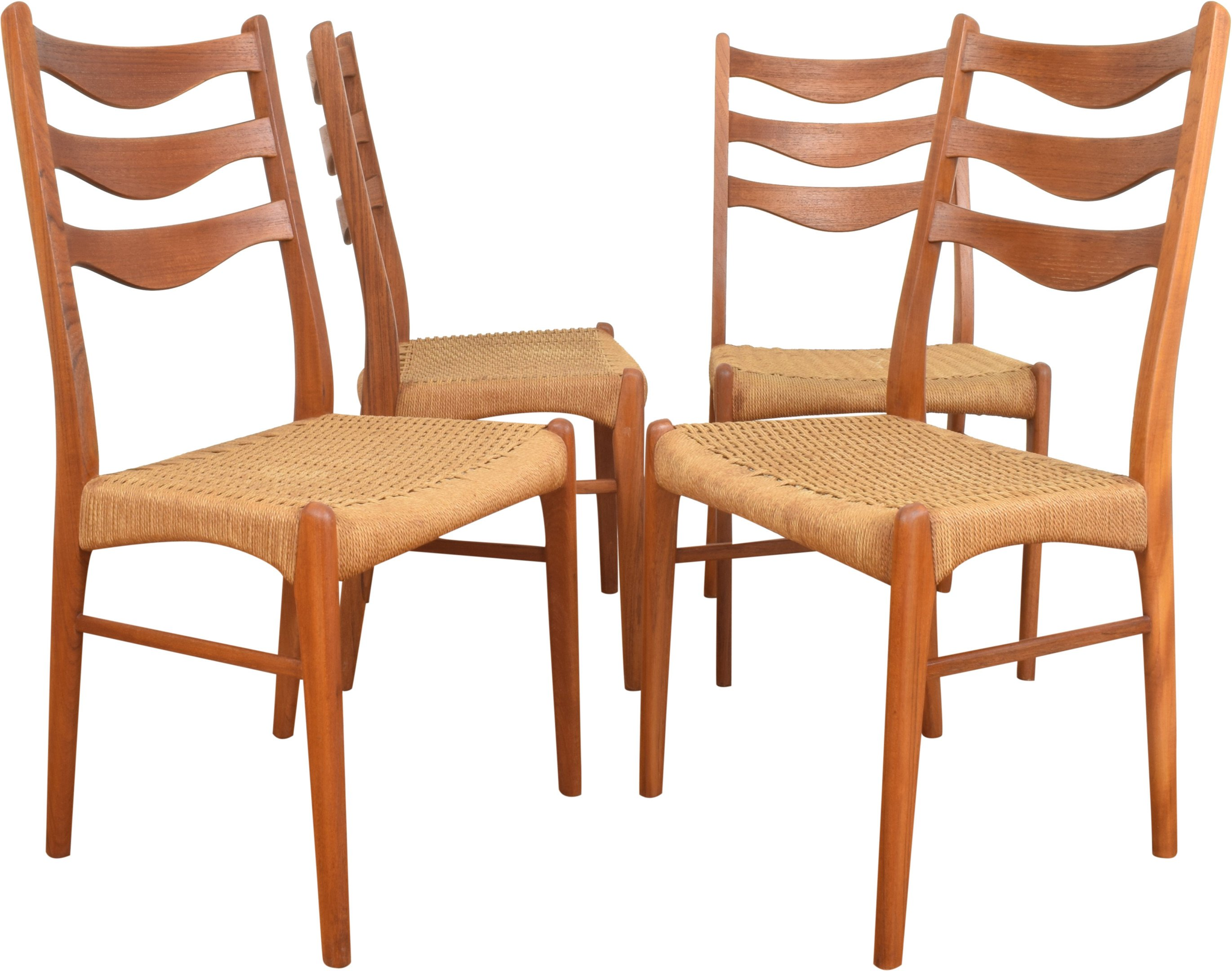 Set of Four Chairs by A. Wahl Iversen, Glyngøre Stolefabrik, Denmark, 1960s