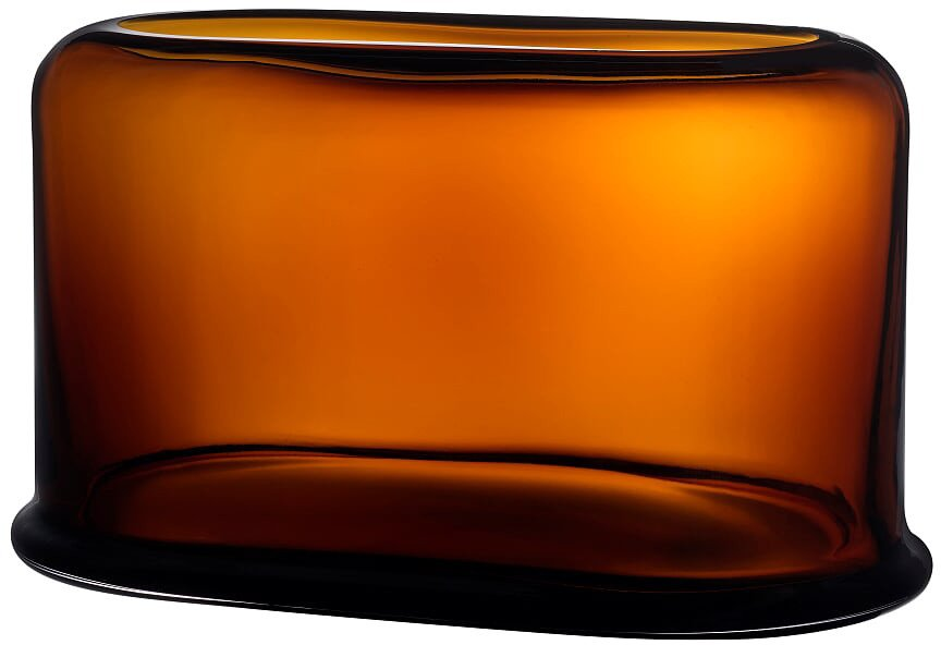 Layers Vase Wide Amber by A. Ruiz for Nude Glass