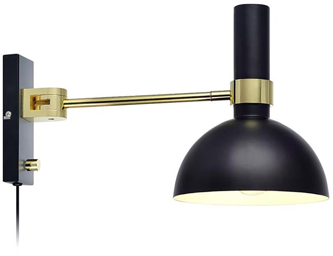 Larry Wall Lamp in Black and Gold, Markslöjd