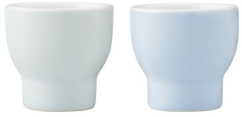 Pair of Blue Egg Cups Emma by HolmbäckNordentoft for Stelton