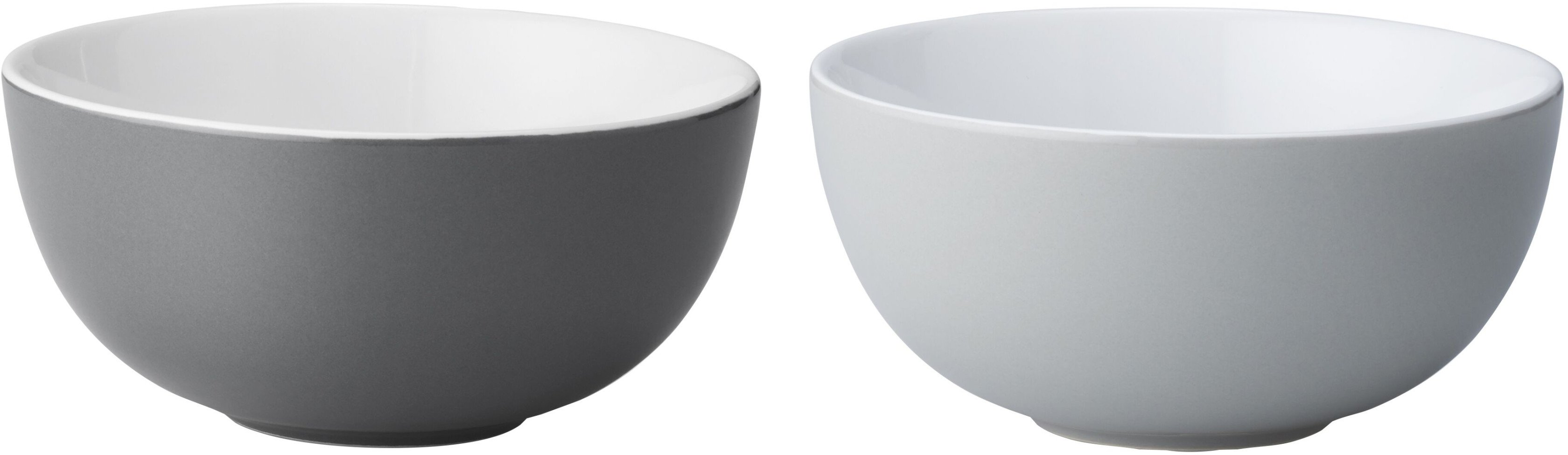 Pair of Emma Bowls S Grey by HolmbäckNordentoft for Stelton