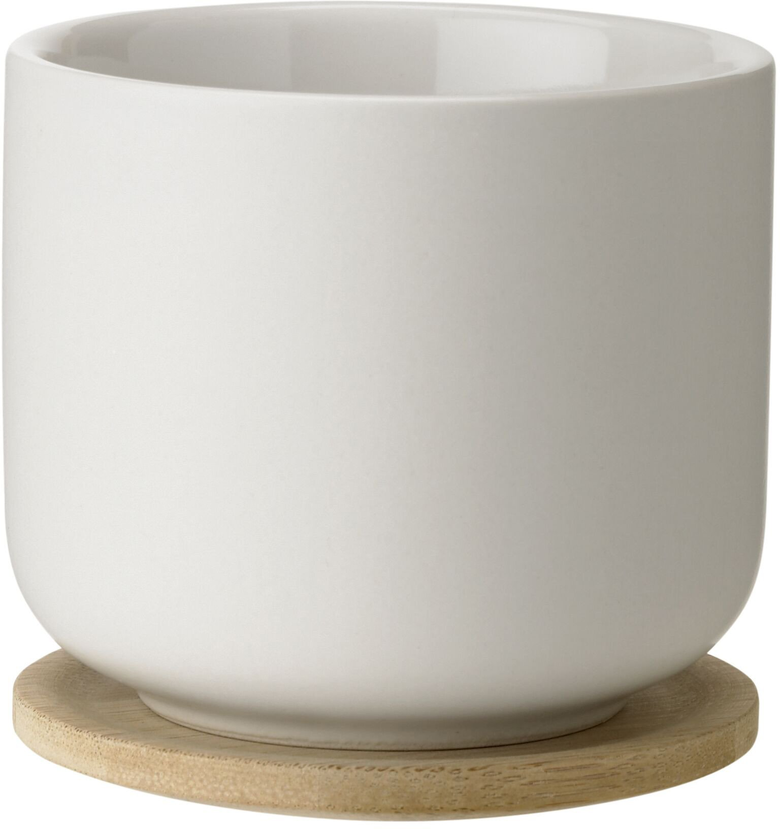Theo Tea Mug with Coaster Sand by F. Cayouette for Stelton