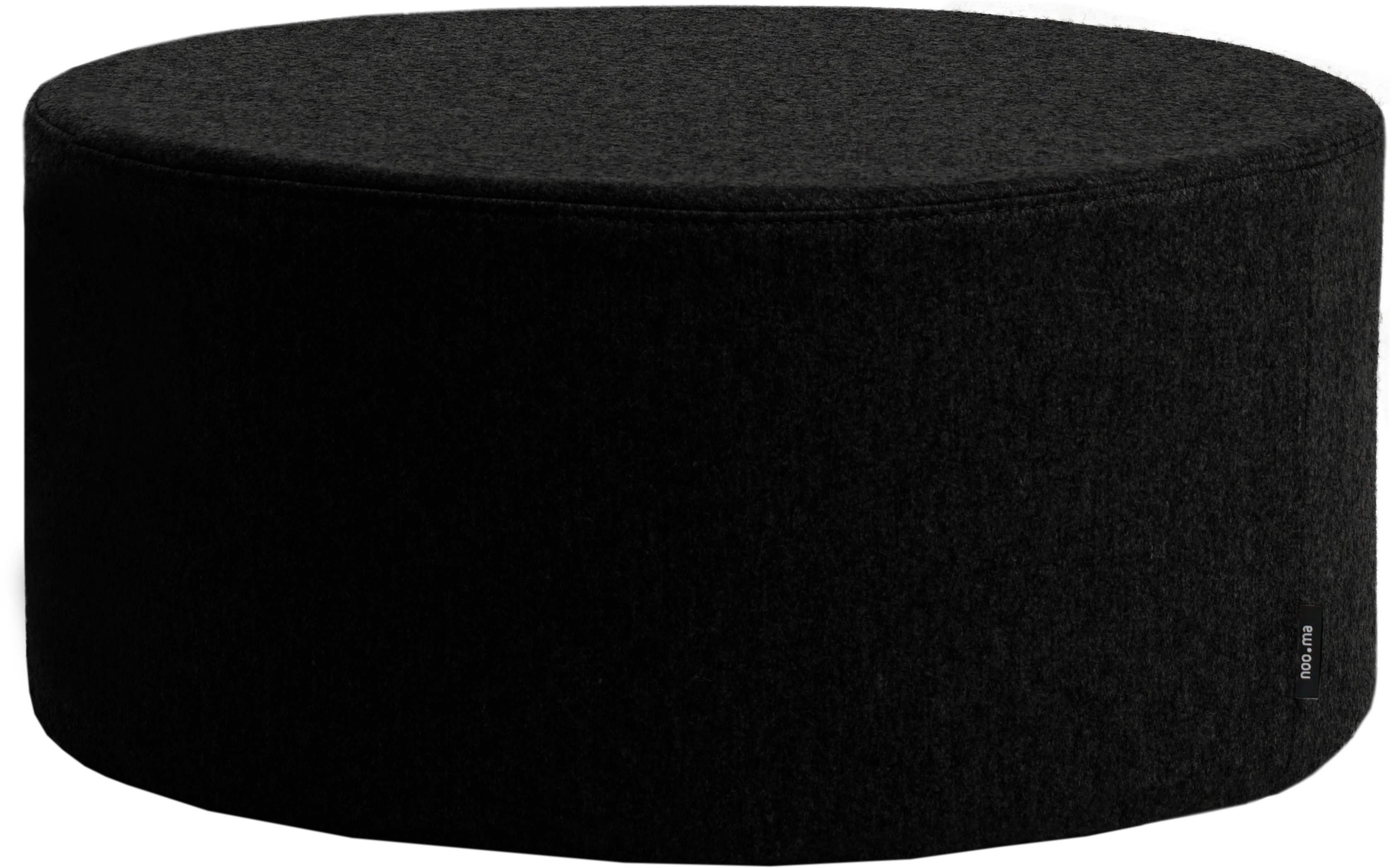 Folk Pouf Black Low, noo.ma